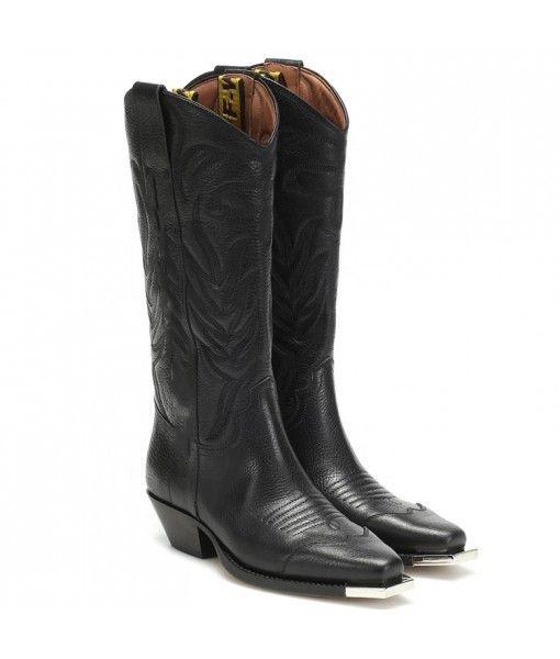 Fashion chaussure femme winter genuine leather western cowboy women chukka boots