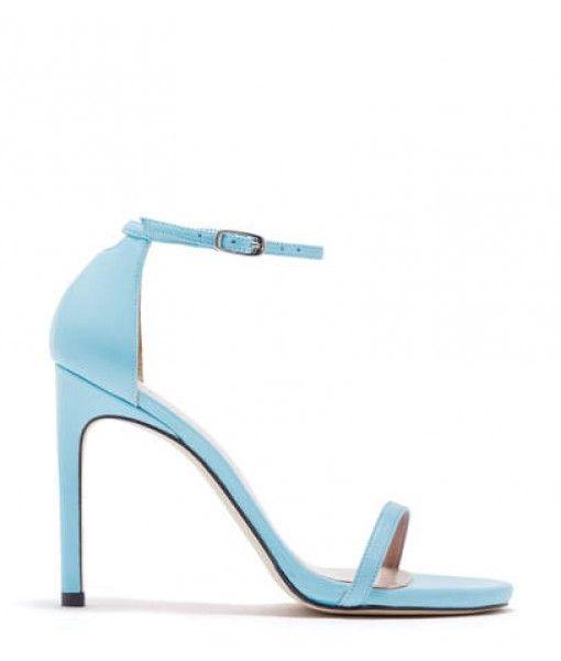 Sky Blue Ladies High Heel Fancy Sandals